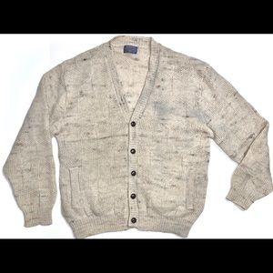 Men's Pendleton Wool Button-Up Cardigan Sweater